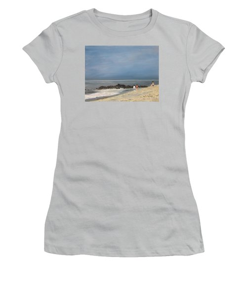 Storm Out To Sea Women's T-Shirt (Athletic Fit)