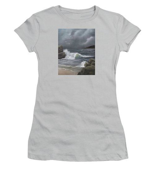 Stormy Waters Women's T-Shirt (Junior Cut) by Sheri Keith