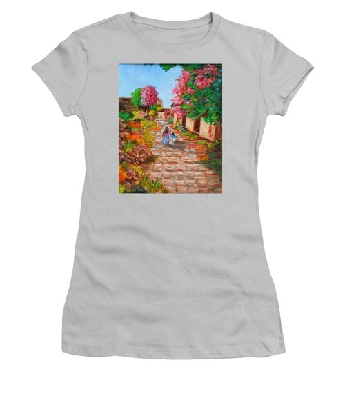 Street In Monemvasia Women's T-Shirt (Athletic Fit)