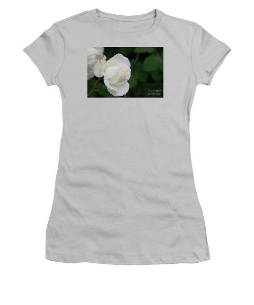 Stunning White Tineke Rose Women's T-Shirt (Athletic Fit)