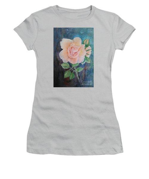 Summer Rose - Painting Women's T-Shirt (Junior Cut) by Veronica Rickard