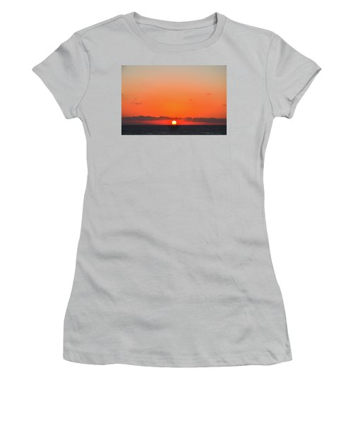 Sun Balancing On The Horizon Women's T-Shirt (Athletic Fit)
