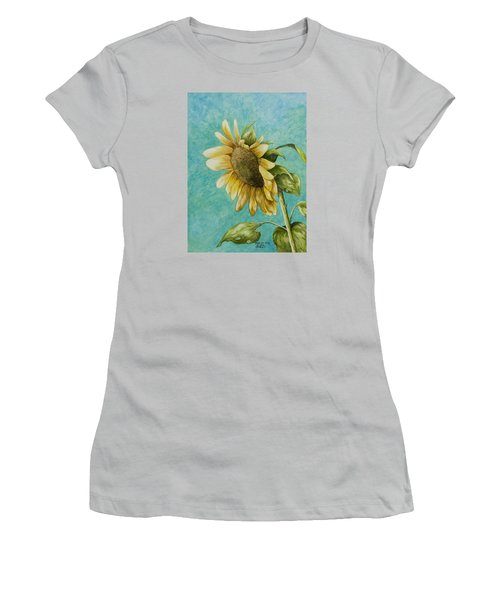 Sunflower Number One Women's T-Shirt (Athletic Fit)