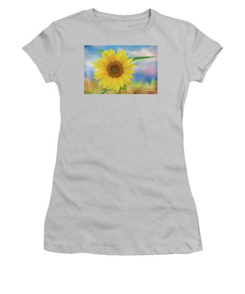 Sunflower Surprise Women's T-Shirt (Athletic Fit)