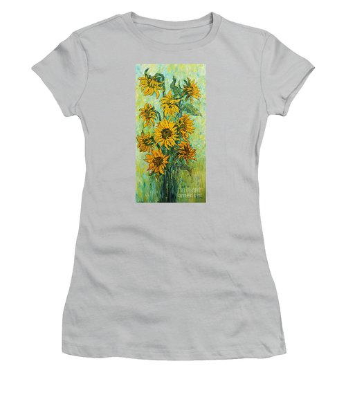 Sunflowers For This Summer Women's T-Shirt (Athletic Fit)