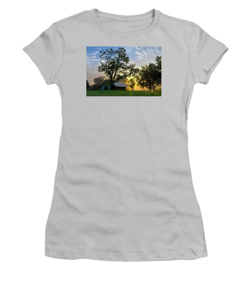 Sunrise At The Farm Women's T-Shirt (Junior Cut) by George Randy Bass