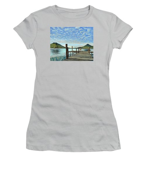 Sunrise At The Water Women's T-Shirt (Athletic Fit)