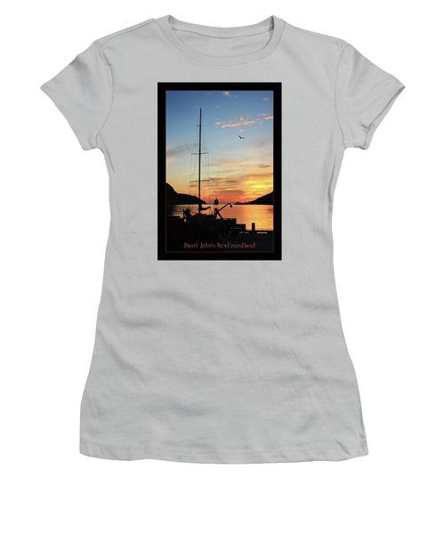 Sunrise In Newfoundland Women's T-Shirt (Athletic Fit)