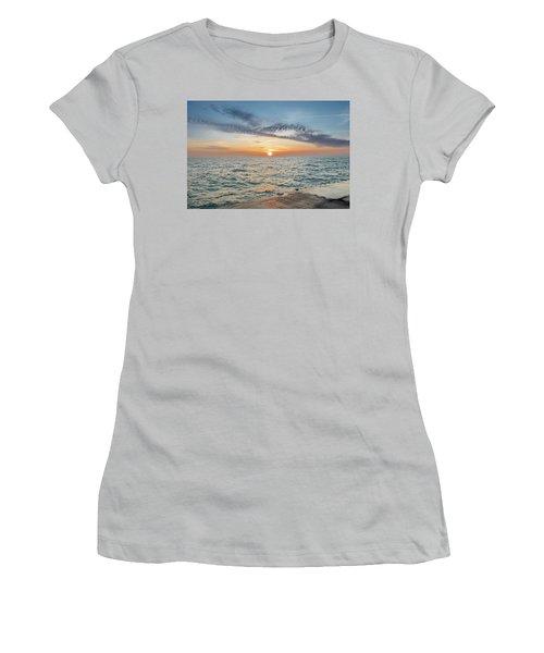 Sunrise Over Lake Michigan Women's T-Shirt (Junior Cut) by Peter Ciro