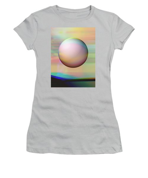 Women's T-Shirt (Athletic Fit) featuring the digital art Sunrise Visitor by Wendy J St Christopher