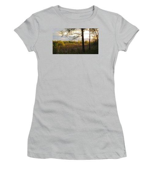 Sunset At Scuppernong II Women's T-Shirt (Junior Cut) by Kimberly Mackowski