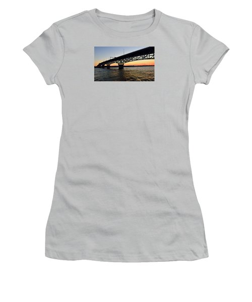Sunset At The Coleman Bridge Women's T-Shirt (Athletic Fit)