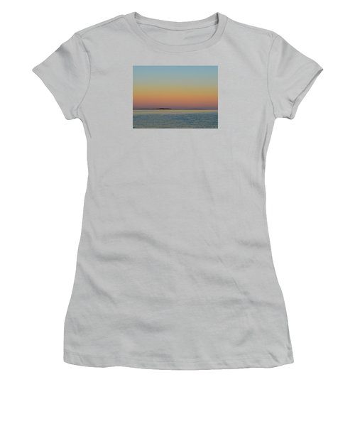 Sunset Blend At The Outer Harbor 2  Women's T-Shirt (Junior Cut) by Lyle Crump