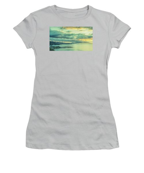 Women's T-Shirt (Athletic Fit) featuring the photograph Sunset In Tahiti by Gary Slawsky
