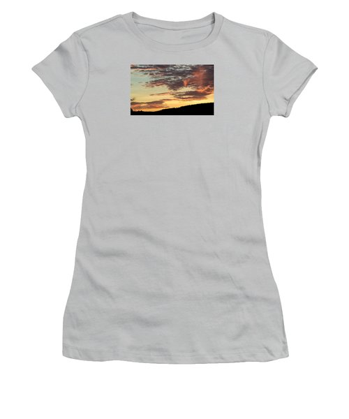 Sunset On Hunton Lane #6 In The Company Of Angels Women's T-Shirt (Junior Cut) by Carlee Ojeda