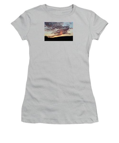 Sunset On Hunton Lane #9 Women's T-Shirt (Junior Cut) by Carlee Ojeda