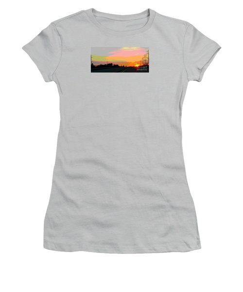 Sunset On Ol' 66 Women's T-Shirt (Athletic Fit)
