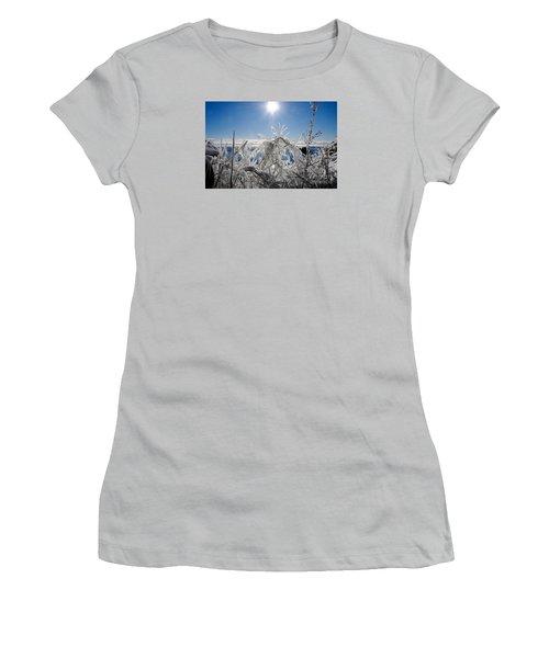 Sunshine And Ice Women's T-Shirt (Junior Cut) by Sandra Updyke
