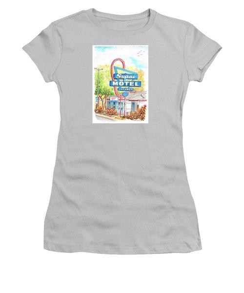 Supai Motel In Route 66, Seliman, Arizona Women's T-Shirt (Junior Cut) by Carlos G Groppa