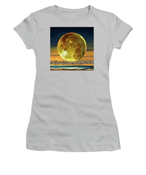 Super Moon Over November Women's T-Shirt (Athletic Fit)