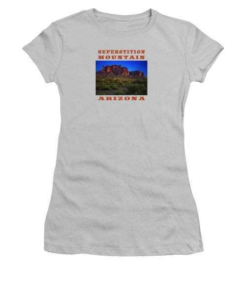 Superstition Mountain Sunset Women's T-Shirt (Athletic Fit)