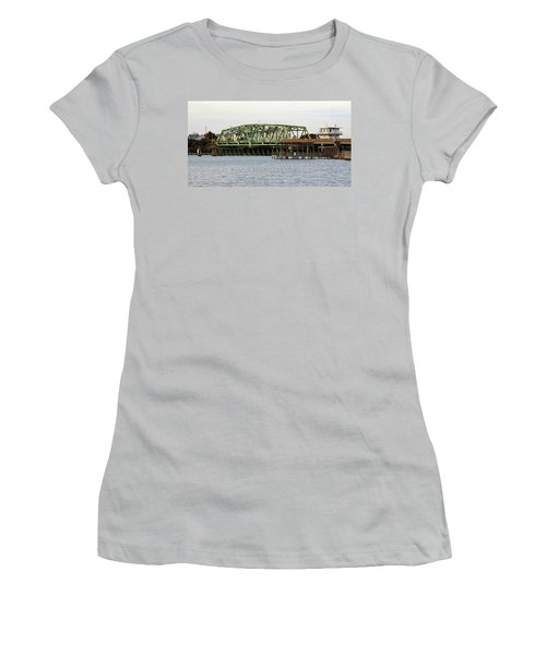 Surf City Swing Bridge Women's T-Shirt (Junior Cut) by Cynthia Guinn