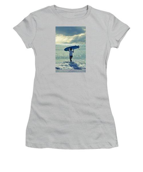 Surfer Girl Women's T-Shirt (Junior Cut) by Laura Fasulo