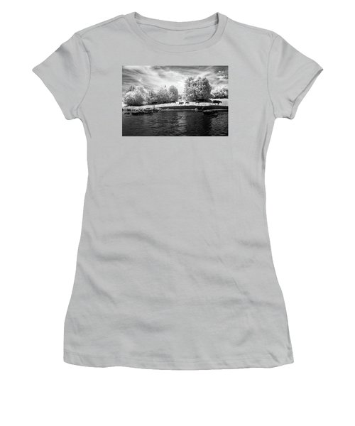 Swimming With Cows Women's T-Shirt (Junior Cut) by Paul Seymour