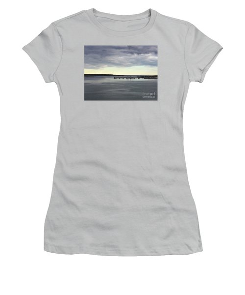Swirling Currents On Casco Bay Women's T-Shirt (Junior Cut) by Patricia E Sundik