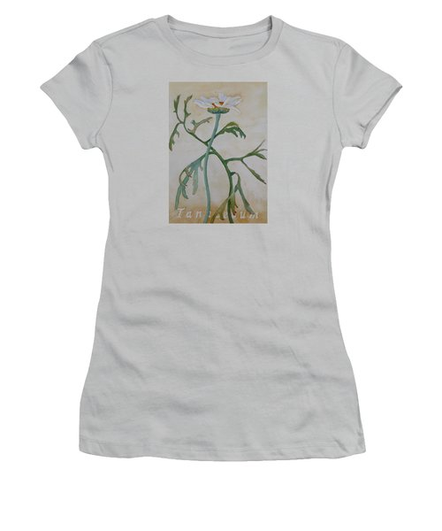 Tanacetum Women's T-Shirt (Junior Cut) by Ruth Kamenev