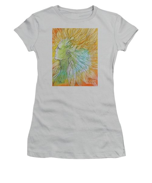 Women's T-Shirt (Junior Cut) featuring the drawing Te-fiti by Marat Essex
