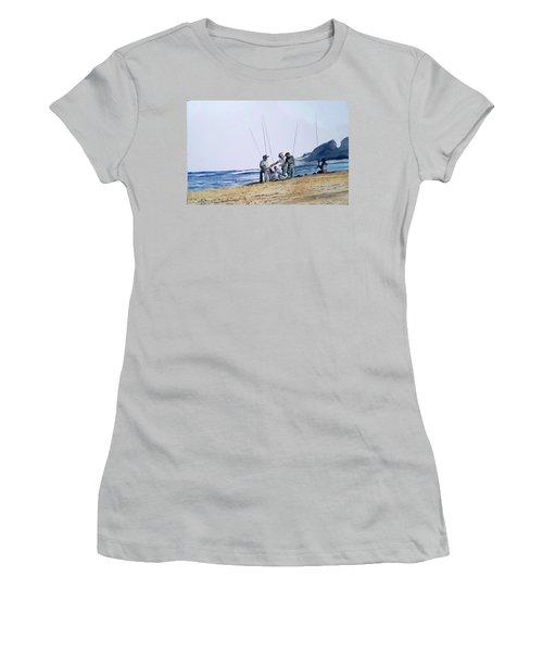 Teach Them To Fish Women's T-Shirt (Junior Cut) by Tim Johnson
