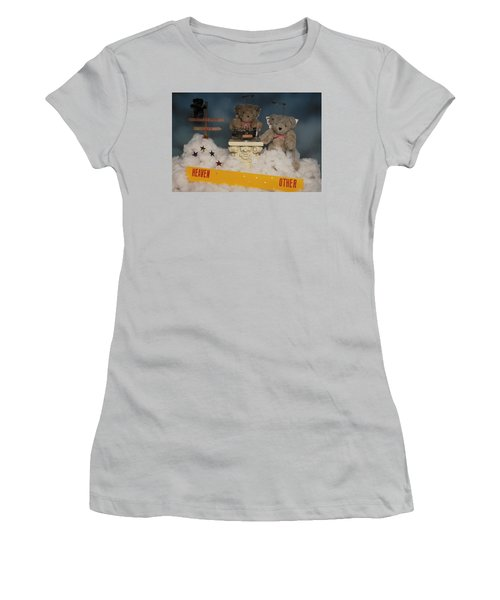 Teddy Bears In Heaven Women's T-Shirt (Athletic Fit)