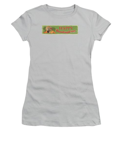 Women's T-Shirt (Junior Cut) featuring the painting Thanksgiving-c by Jean Plout