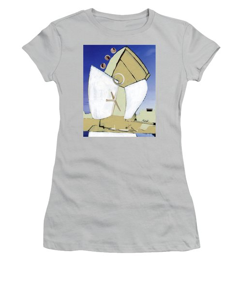 Women's T-Shirt (Junior Cut) featuring the painting The Arc by Michal Mitak Mahgerefteh