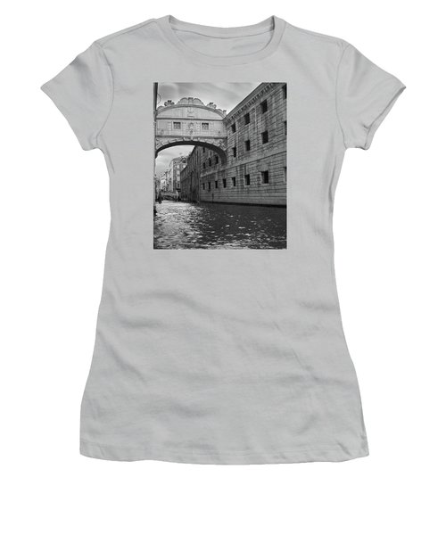 Women's T-Shirt (Athletic Fit) featuring the photograph The Bridge Of Sighs, Venice, Italy by Richard Goodrich