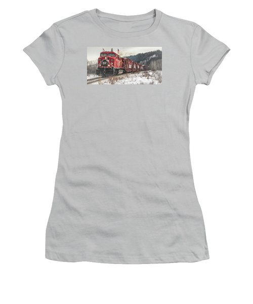 The Canadian Pacific Holiday Train Women's T-Shirt (Athletic Fit)