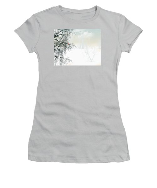 Women's T-Shirt (Junior Cut) featuring the digital art The Cardinal by Trilby Cole