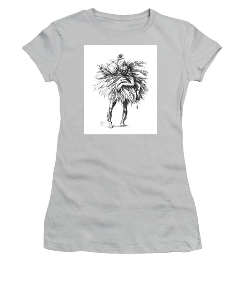 The Dance Macabre Women's T-Shirt (Junior Cut) by Yvonne Wright