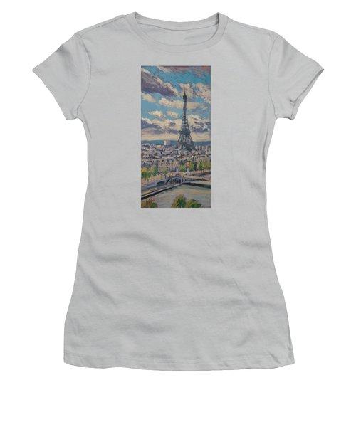 The Eiffel Tower Paris Women's T-Shirt (Junior Cut) by Nop Briex