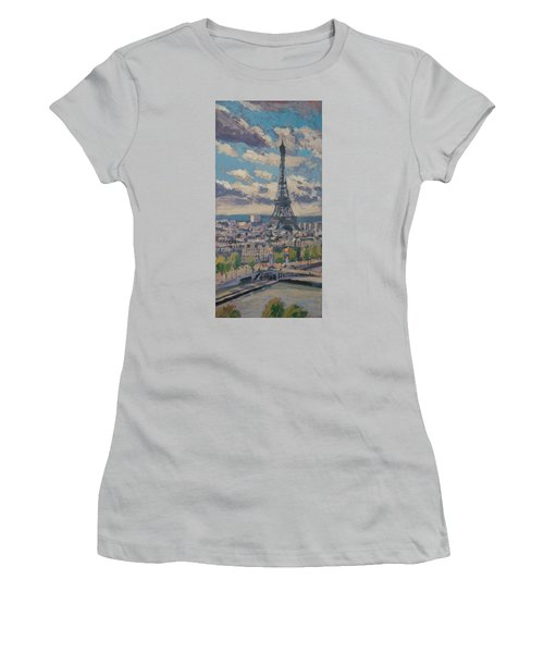 The Eiffel Tower Paris Women's T-Shirt (Junior Cut)