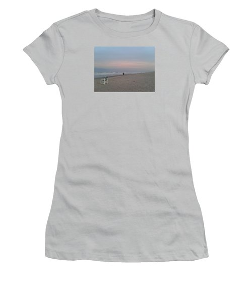 The End Of The Day Women's T-Shirt (Junior Cut) by Veronica Rickard