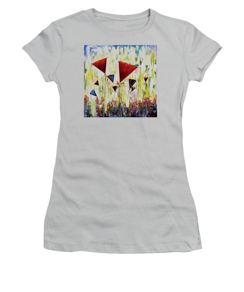 The Flower Party Women's T-Shirt (Athletic Fit)