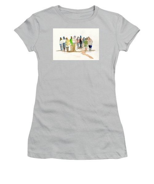 The Gathering Women's T-Shirt (Junior Cut) by P Anthony Visco