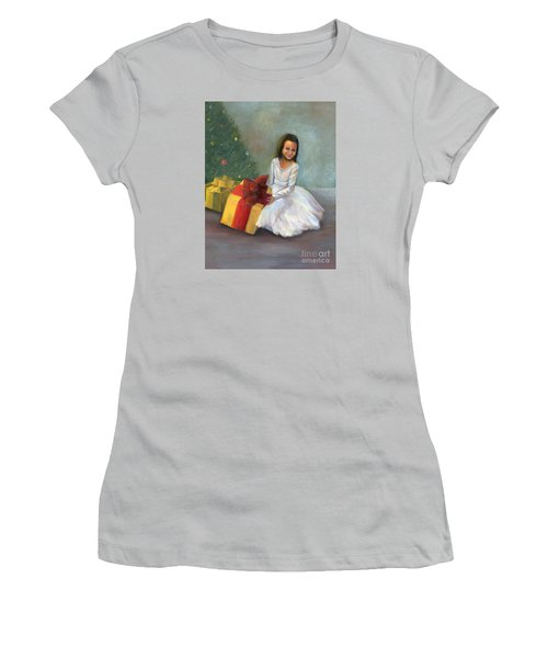 Women's T-Shirt (Athletic Fit) featuring the painting The Gift by Marlene Book