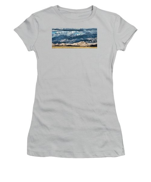 The Great Sand Dunes Panorama Women's T-Shirt (Athletic Fit)