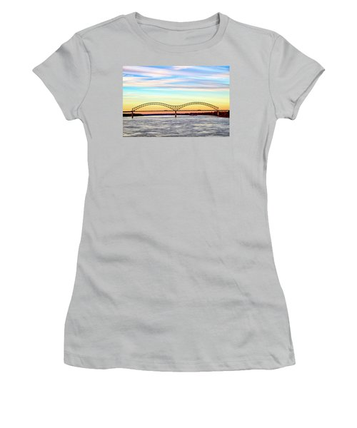 The Hernando De Soto Bridge Women's T-Shirt (Athletic Fit)