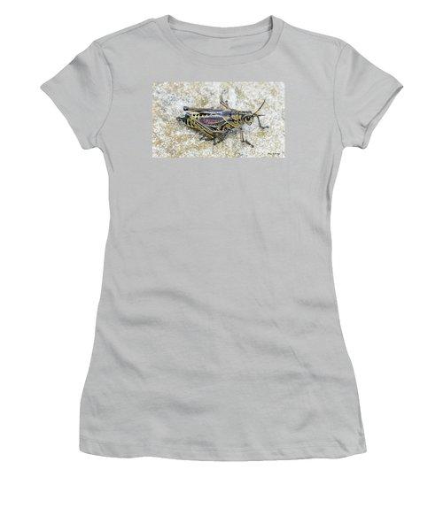The Hopper Grasshopper Art Women's T-Shirt (Athletic Fit)