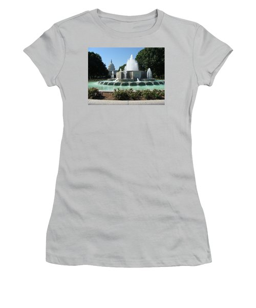 Women's T-Shirt (Junior Cut) featuring the painting The House Of Democracy by Rod Jellison