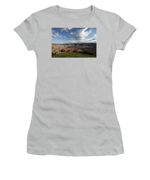 The Inca Capital Of Cusco Women's T-Shirt (Junior Cut) by Aidan Moran